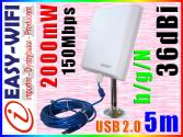 ANTENA AKTYWNA WiFi SKY 5m USB INTERNET do 10km