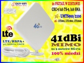 ANTENA DUAL MIMO GSM 3G 4G LTE 41 dBi TS9 CRC9 SMA
