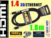 KABEL HDMI-HDMI 1.4 ETHERNET HD 3D PS3 XBOX 1.8m