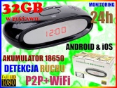 MINI KAMERA ZEGAR  HD MONITORING WiFi 24h ANDROID iOS P2P + KARTA 32GB